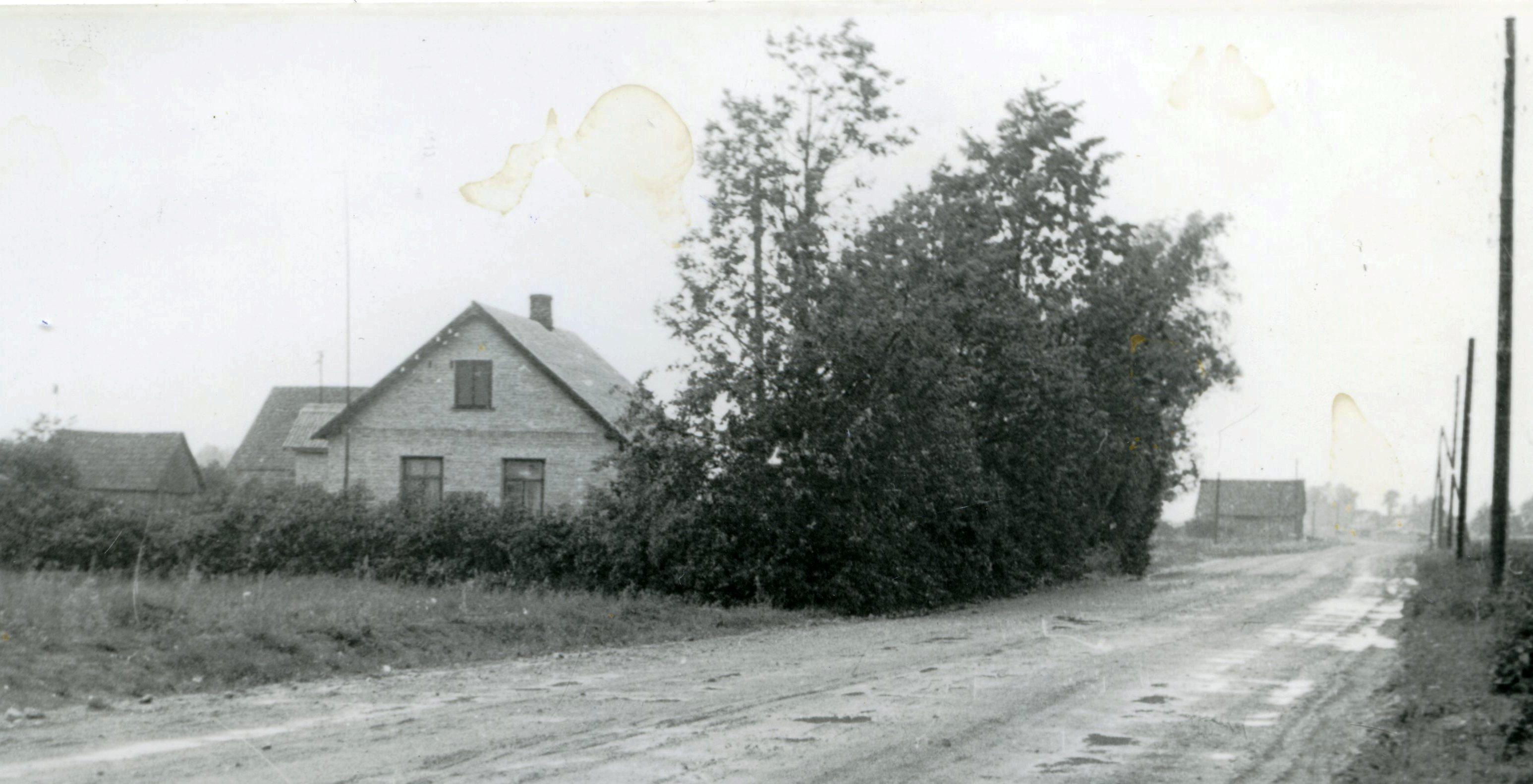 Skats no A. Starķa Mētrām uz Birzuļiem. 20. gs. 60. gadi. Ķekavas novadpētniecības muzeja krājums.